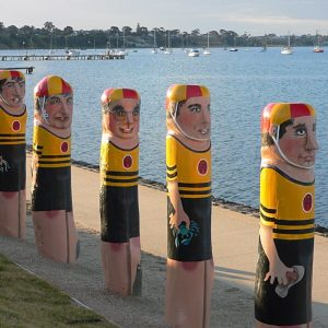 bollards_geelong_australia_art_victoria_woodenpoles_stature_carvedwood-343151